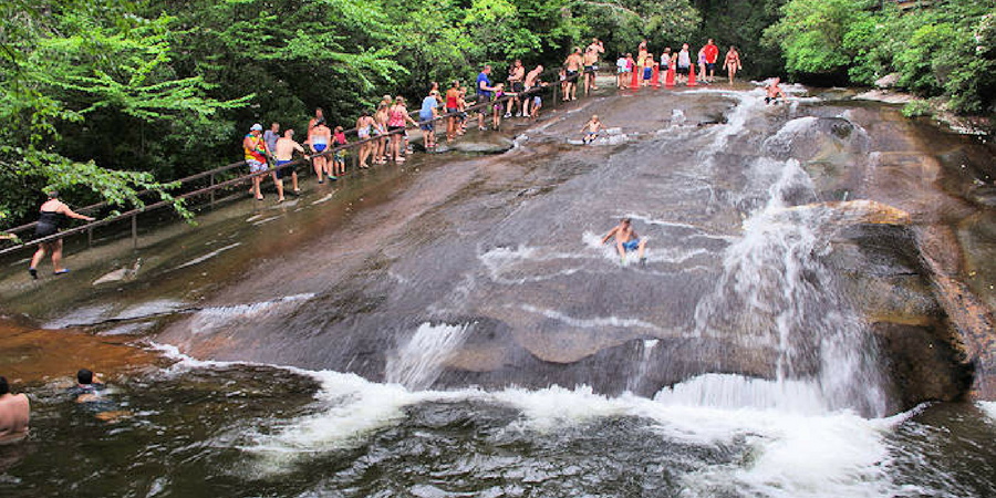 10 ways to cool off in Greenville, South Carolina in the summer - sliding rock